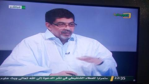 سيدي محمد ولد محم خلال المقابلة